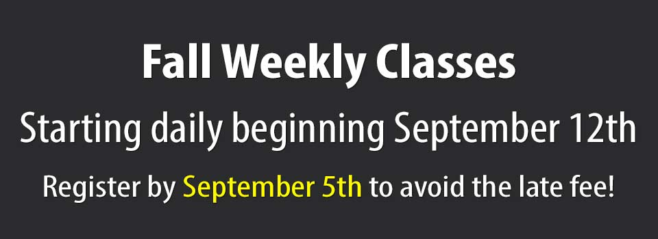 2019 Fall Weekly Classes
