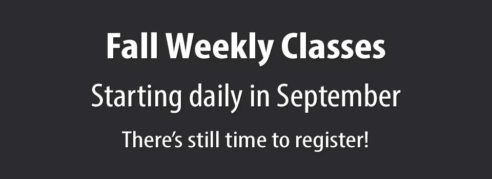 2020 Fall Weekly Classes