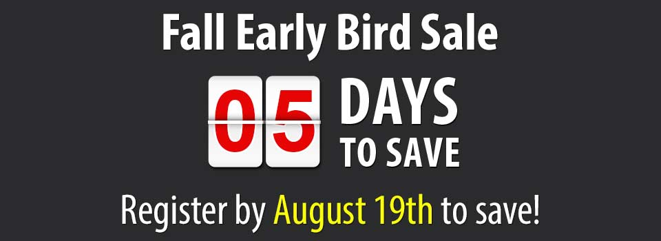 2020 Fall Early Bird Sale